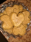 heart Peanut Butter cookies